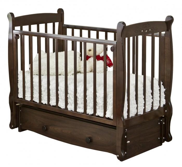 Детские кроватки Можга (Красная Звезда) Елисей С-717 Птички (продольный маятник)