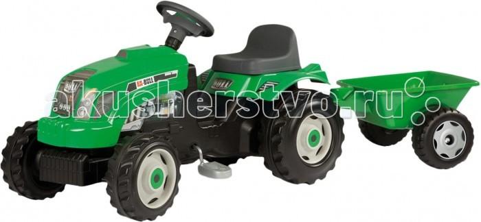 Педальные машины Smoby Трактор на педалях GM Bull+remorgue