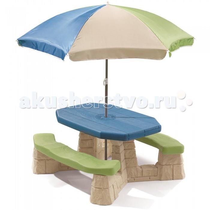 Пластиковая мебель Step 2 Пикник складной столик с зонтиком
