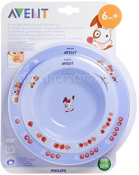 Посуда Philips-Avent Набор из 2х глубоких тарелок SCF708/01
