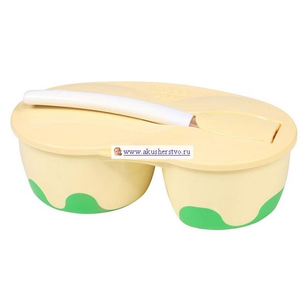 Посуда Baby Wee Тарелка с крышкой в наборе с ложкой