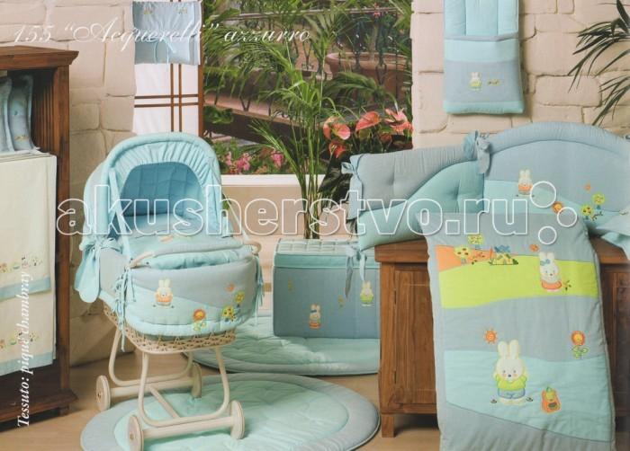 Балдахины для кроваток BabyPiu Acquerelli - Балдахин для кроватки с бантом и вышивкой