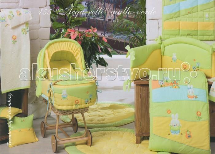 Комплекты для кроваток BabyPiu Acquerelli - комплект для кроватки: 2 простыни + наволочка