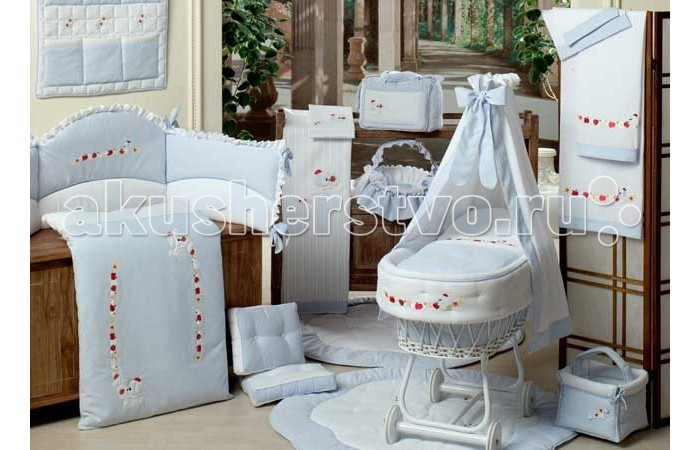 Одеяла BabyPiu Le Chicche - Одеяло из ткани пике с вышивкой для кроватки