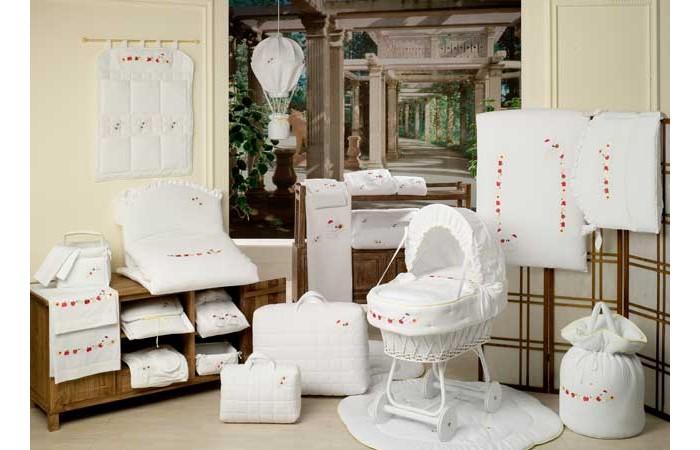 Балдахины для кроваток BabyPiu Le Chicche - Балдахин для кроватки с бантом и вышивкой
