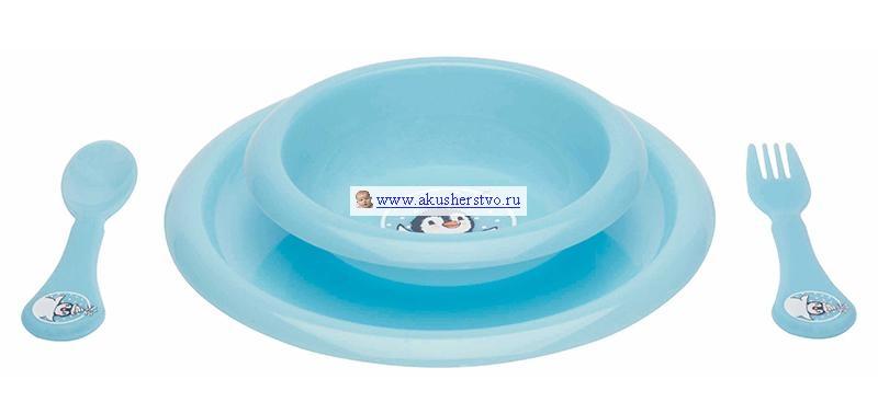 Комплект посуды для кормления Бирюзовый