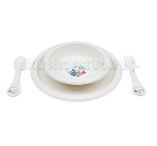 Комплект посуды для кормления Белый жемчуг