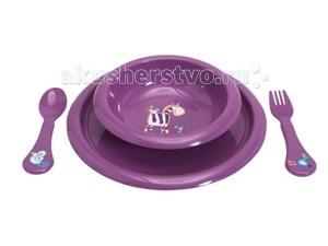 Комплект посуды для кормления Фиолетовый
