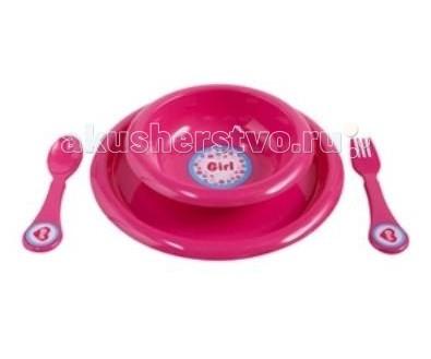 Комплект посуды для кормления Фуксия