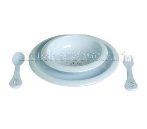 Комплект посуды для кормления Голубой тюлень
