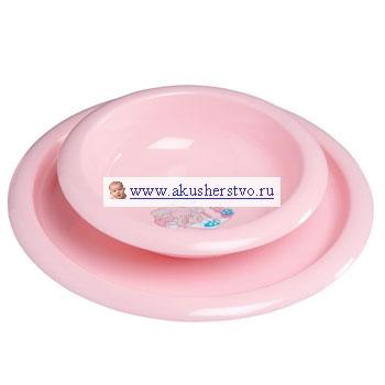 Комплект посуды для кормления Розовый