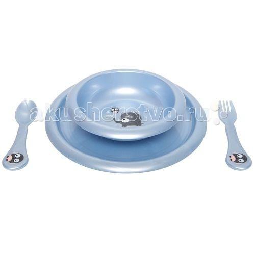 Комплект посуды для кормления Сиреневый жемчуг
