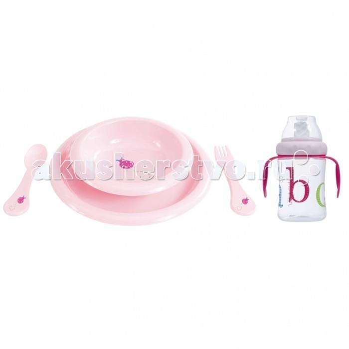 Подарочный набор для кормления Люкс Нежно Розовый