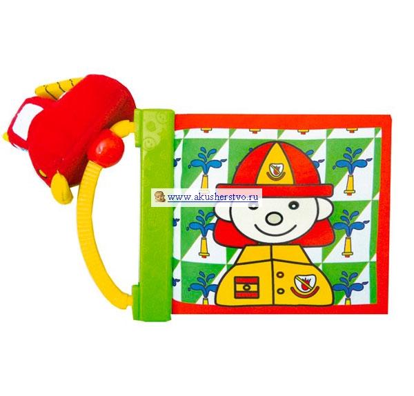 Книжки-игрушки Biba Toys Мягкая книжка с машинкой