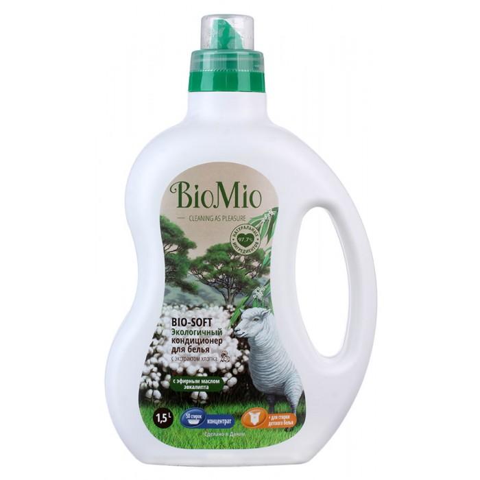 Моющие средства BioMio Экологичный кондиционер для белья с эфирным маслом и хлопком 1.5 л