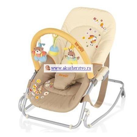 Кресла-качалки, шезлонги Brevi Кресло-качалка Baby Rocker с мягкими игрушками