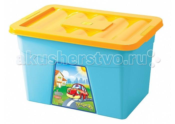 Ящики для игрушек Бытпласт Ящик для игрушек на колесах с аппликацией
