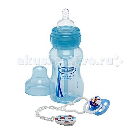 Наборы для новорожденных Dr.Brown's Набор бутылочка 240 мл + пустышка PreVent