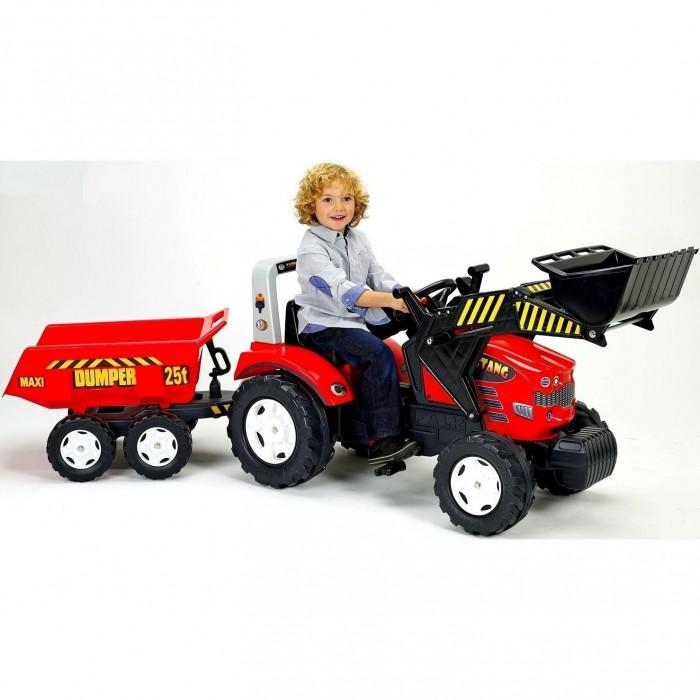 Педальные машины Falk Трактор-экскаватор педальный с прицепом