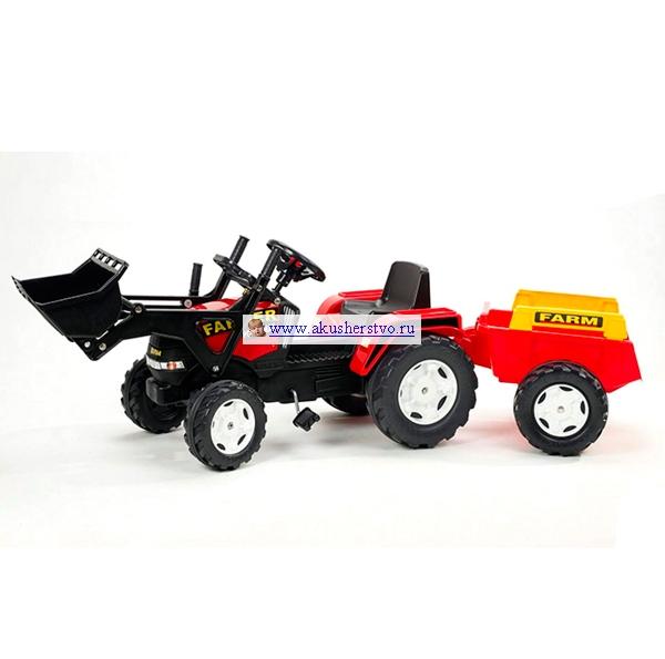 Педальные машины Falk Трактор-экскаватор с прицепом 1021M/1022M