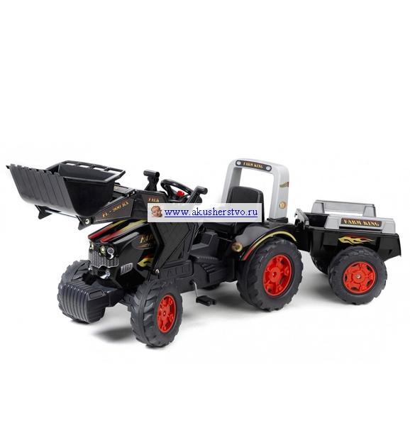 Педальные машины Falk Трактор-экскаватор с прицепом 1075М