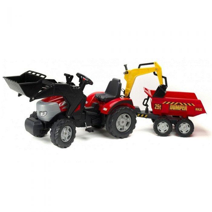 Педальные машины Falk Трактор-экскаватор с прицепом и ковшом 1030W