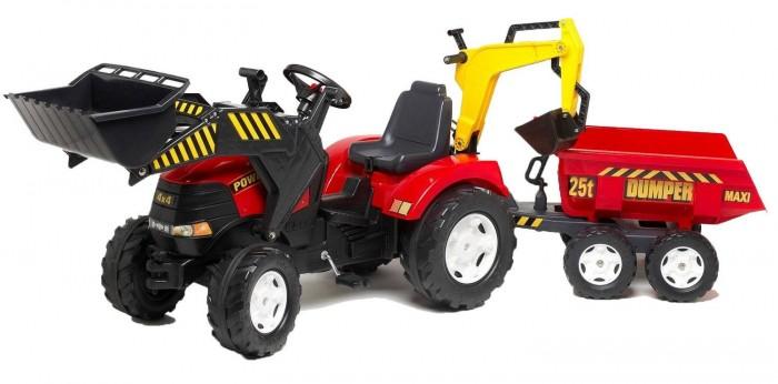 Педальные машины Falk Трактор-экскаватор с прицепом и ковшом 995W