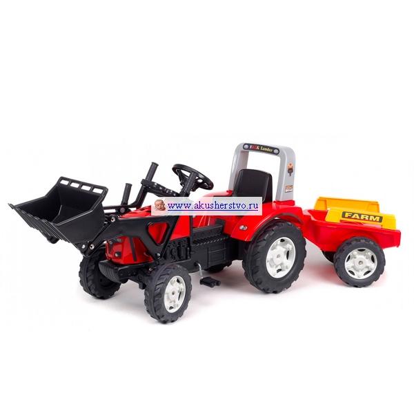 Педальные машины Falk Трактор с ковшом и прицепом 960AM