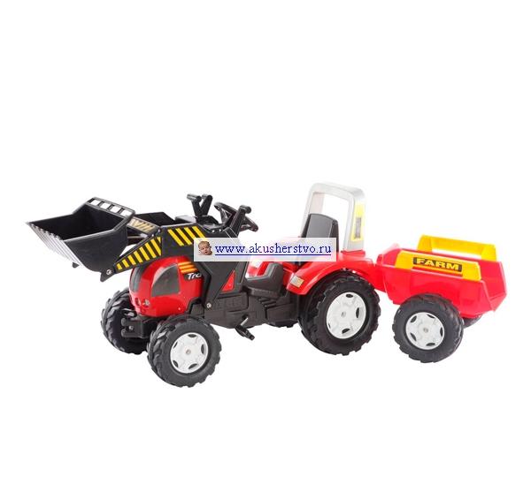 Педальные машины Falk Трактор с ковшом и прицепом 981M