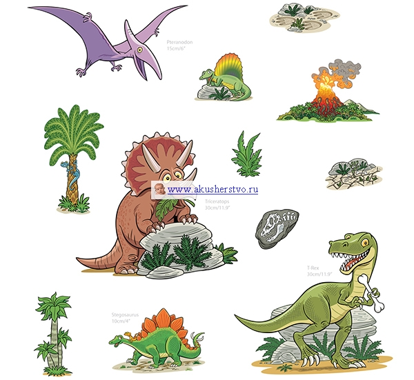 Аксессуары для детской комнаты FunToSee Набор наклеек TRS-тематический набор