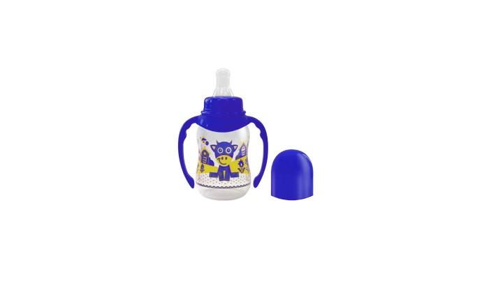 Бутылочки Lubby Русские мотивы с силиконовой соской и ручками с 0 мес. 120 мл