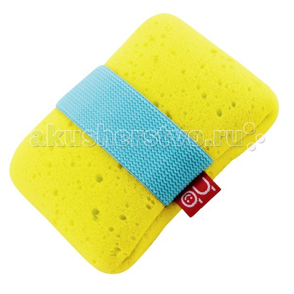 Мочалки Happy Baby Sponge + с эластичным фиксатором на руку