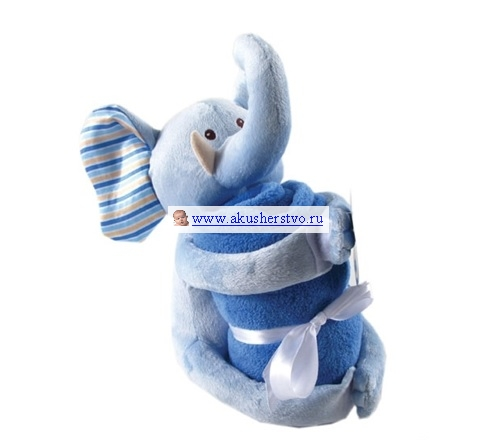 Пледы Hudson Baby с игрушкой 76х101