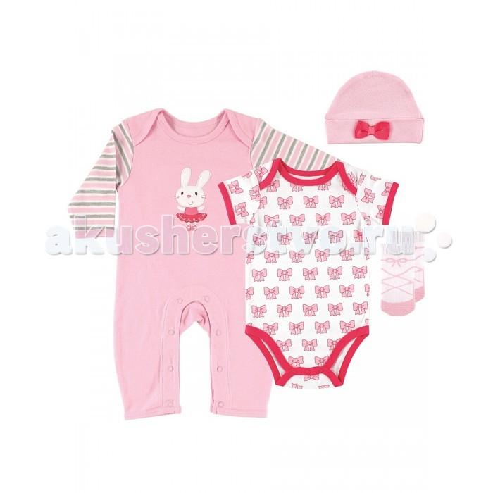 Подарочные наборы Hudson Baby для девочки 58095 (4 предмета)