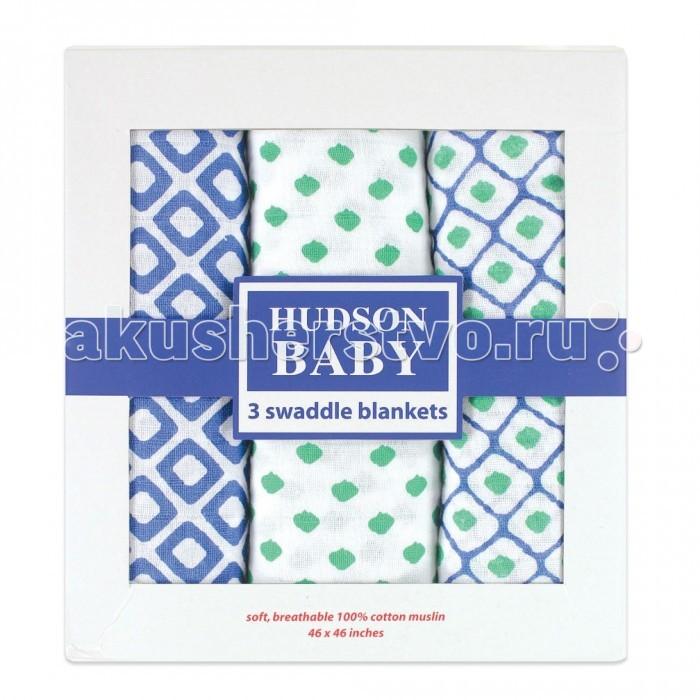 Пеленки Hudson Baby комплект Графические узоры 3 шт.