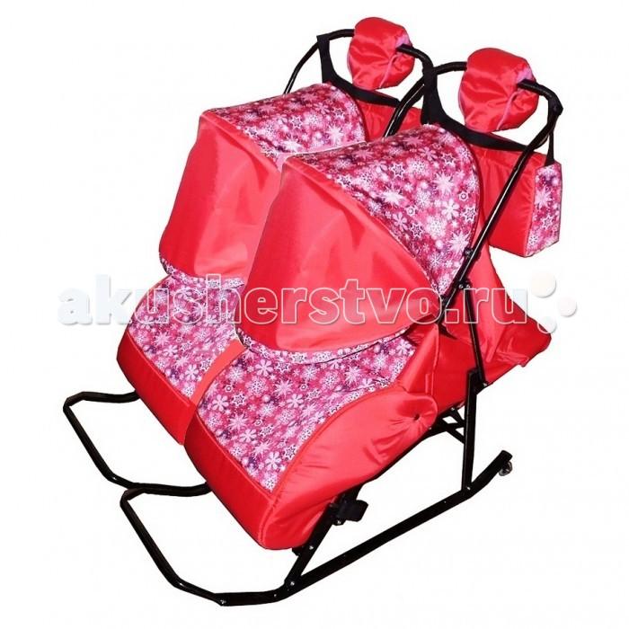 Санки-коляски Kristy Comfort Снежинки для двойни