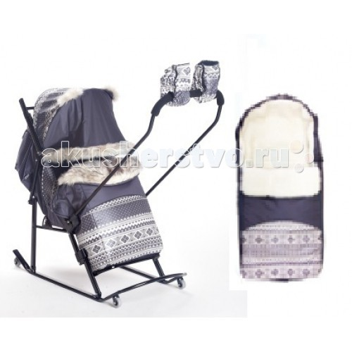 Санки-коляски Kristy Luxe Premium Extra