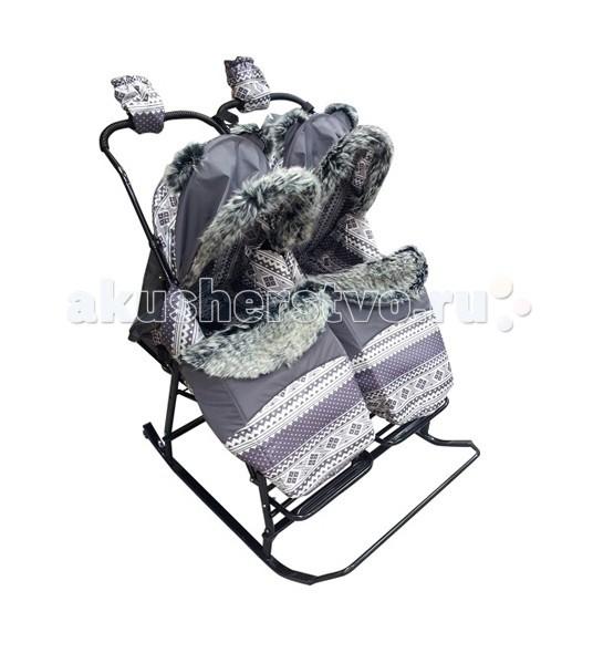 Санки-коляски Kristy Premium для двойни