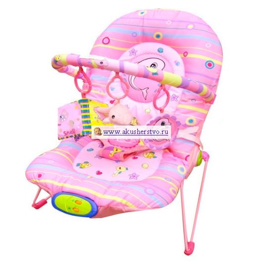 Кресла-качалки, шезлонги La-di-da Шезлонг Дельфин с регулировкой вибрации (1 дуга)