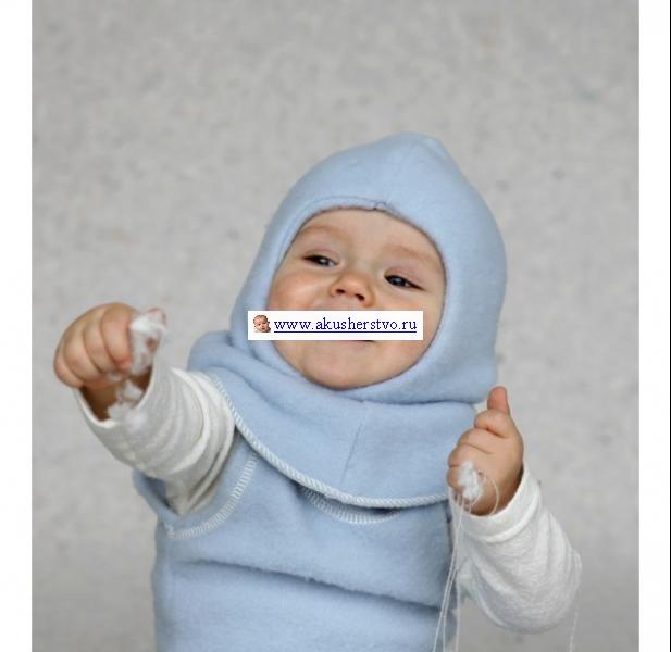 Шапочки и шарфы Lana Care Детская двойная шапка-шлем 6-12 мес