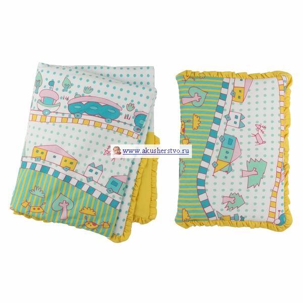 Комплекты в коляску Lider Kids Комплект плед и подушка с рисунком