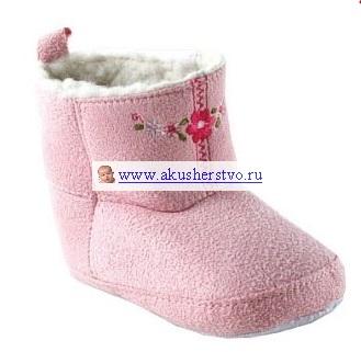 Обувь и пинетки Luvable Friends Угги с вышивкой 0-6 мес.