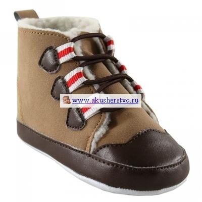 Обувь и пинетки Luvable Friends Тёплые ботинки для мальчика 0-6 мес.
