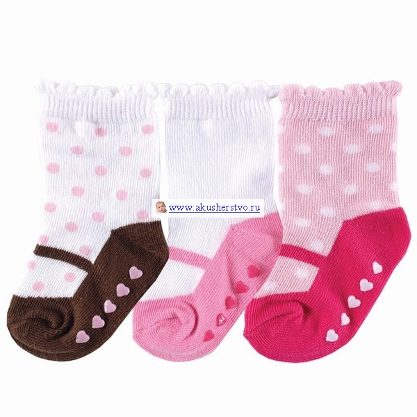 Носочки 3 пары 0-6 мес. Розовый
