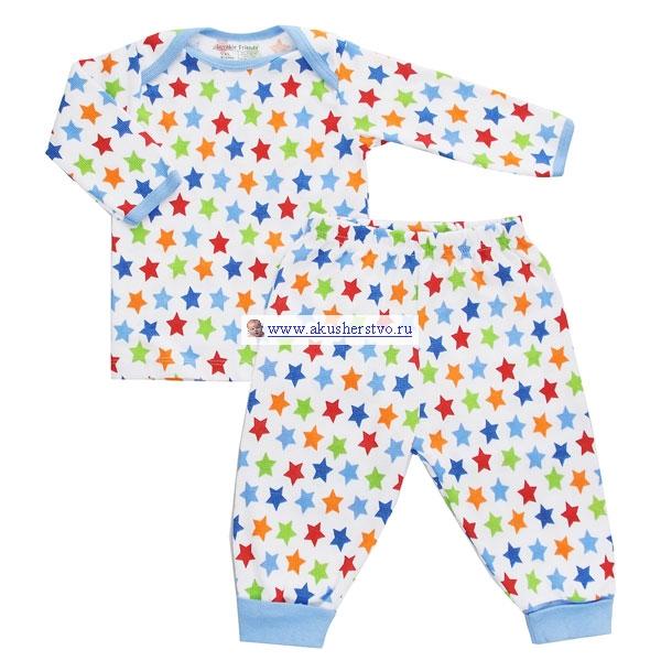 Детский трикотаж Luvable Friends Пижама (футболка и штанишки) 55-61 см