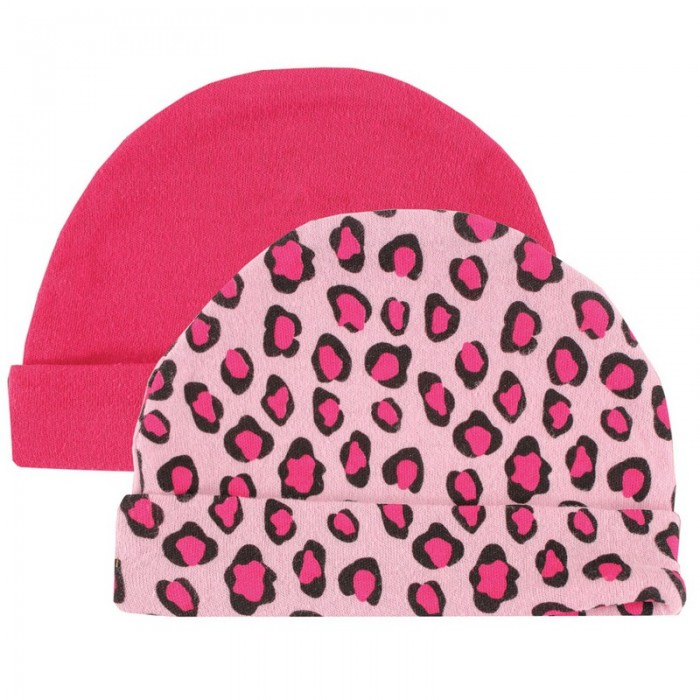 Шапочки 2 шт. 55-67 см Розовый леопард