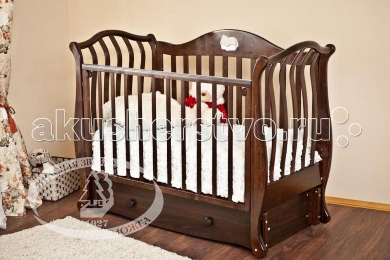 Детские кроватки Можга (Красная Звезда) Юлиана С-757 (маятник продольный)