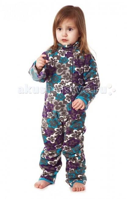 Комбинезоны и комплекты Mum's Era Комбинезон флисовый Цветы