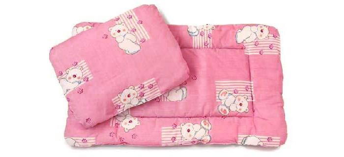 Комплект в коляску (матрас+подушка) Розовый