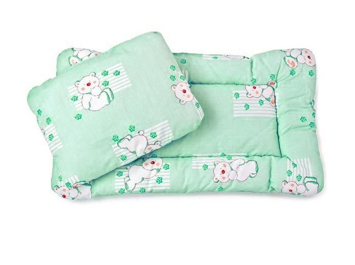 Комплект в коляску (матрас+подушка) Зеленый